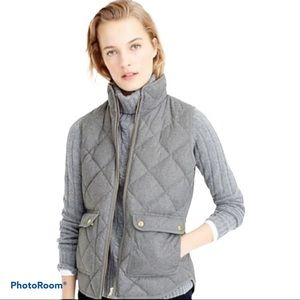 J Crew Excursion Quilted Grey Down Vest